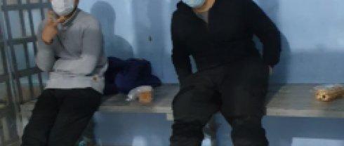 На фото: задержанные участники несанкционированного митинга 23 января в Якутске